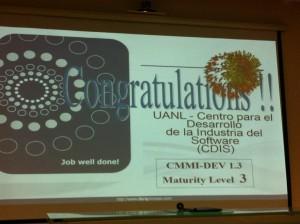 Felicitaciones CMMI Cdis