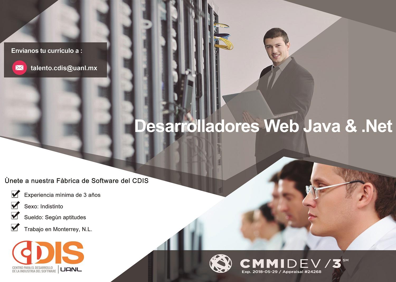 Oferta de trabajo del CDIS para desarrolladores web Java y .Net